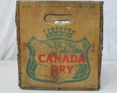 Canada Dry Wooden Crate Box Advertising 17 quot x 12 quot x 12 quot Rustic Decor Vintage 84297032
