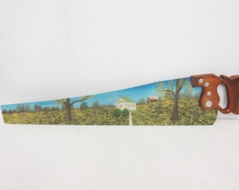 Painted Saw Blade Etsy
