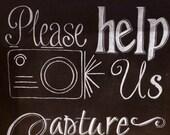 Instagram Wedding Chalkboard Sign.