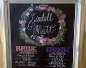 Bridal Party Chalkboard