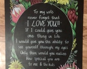 Love quote chalkboard sign