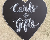 Cards & Gifts Chalkboard Sign.