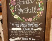 Wedding Program Chalkboard Sign.