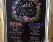 Bridal Party Chalkboard