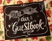 Guestbook Chalkboard Sign.
