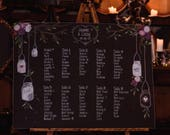 Rustic Seating chart chalkboard sign.