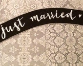 Just Married Chalkboard Banner prop sign.
