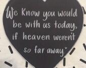 Heaven wedding sign