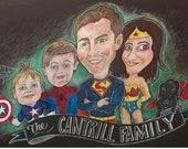 Family portrait characture