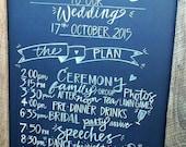 Wedding Plan Chalkboard Sign.