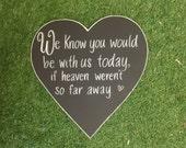 Loved Ones Wedding Chalkboard