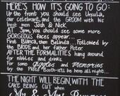 Wedding Chalkboard Program Sign.