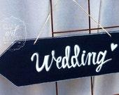 Wedding chalkboard arrow sign