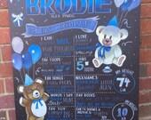 Teddy Bear themed birthday sign