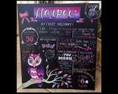 Birthday Chalkboard Nicole