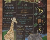 Jungle themed birthday sign