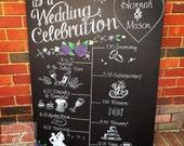 Wedding Program timeline chalkboard sign