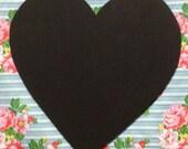 Blank Heart Shaped chalkboard sign