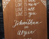 Timber Love Is wedding sign