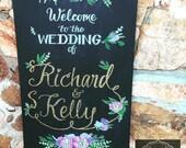 Wedding Welcome Chalkboard Sign.