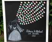 Wedding Guest Book Chalkboard - Framing not included.