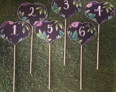 Heart shaped table numbers