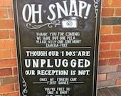Unplugged Wedding Chalkboard Sign.