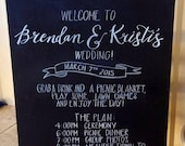 Wedding Program Chalkboard.