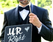 Mr Right & Mrs Always Right prop signs