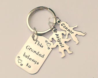Christmas gift for grandad - grandad keyring - grandad gift - gift ideas for grandad - present for grandad, gift ideas for men, mens keyring