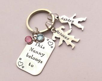 Personalised Nanny gift - Nanny keyring - This Nanny belongs to - nanny present - Nanny keychain - Nan Nana Nanna Grandma gift