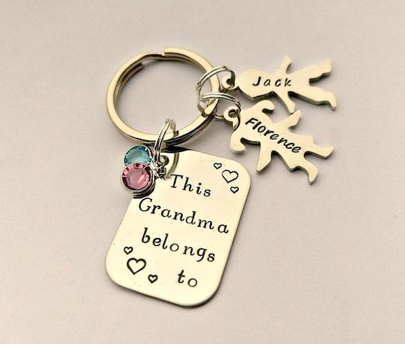 ba6f836a5414 Personnalisé cadeau grand-mère mamie porte-clé cette   Etsy