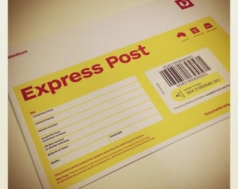 Express postage upgrade international from regular post with tracking to international express courier 5 days