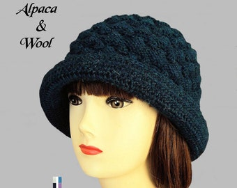90b23beb20a Winter Hat for Women Fedora Alpaca Wool Hat Womens Knit Hat Ladies Gift for  Her