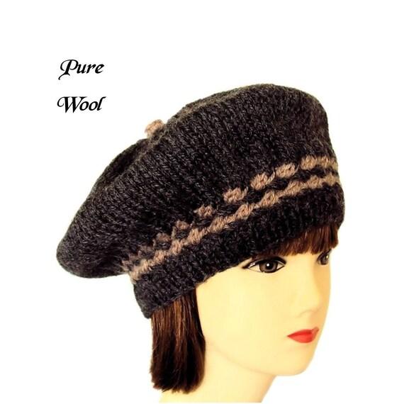 e7ac13b46d5bb Beret Hat Womens Winter Hat Grey Beret Wool Hats Women Gift
