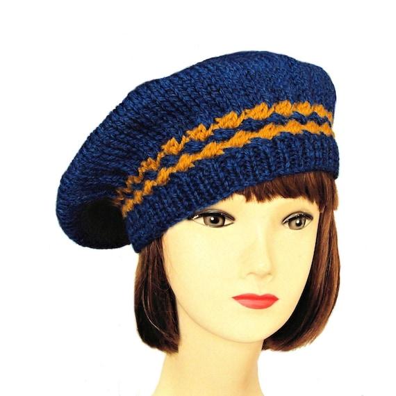 553820d8d8db9 Beret Womens Beret Hat Blue Beret Wool Hat Womens Winter