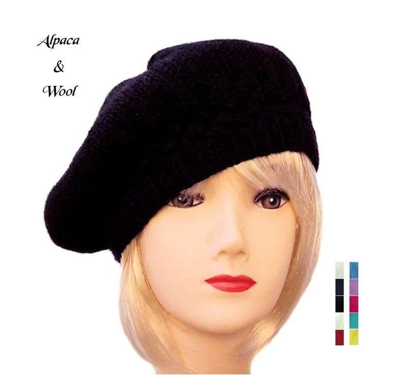 3598d1591 Beret Hats Women Beret Wool Beret Alpaca Hat Winter Hats for Women Gift for  Her by Sue Maun