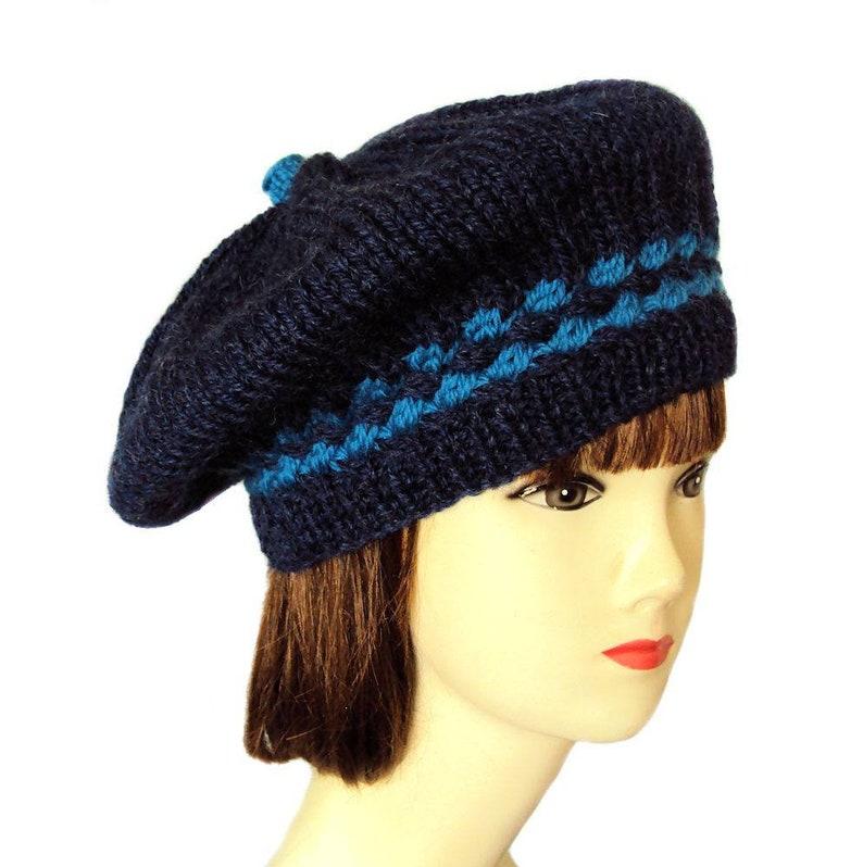53418392cc3ee Blue Beret Hat Blue Wool Beret Wool Hat Women s