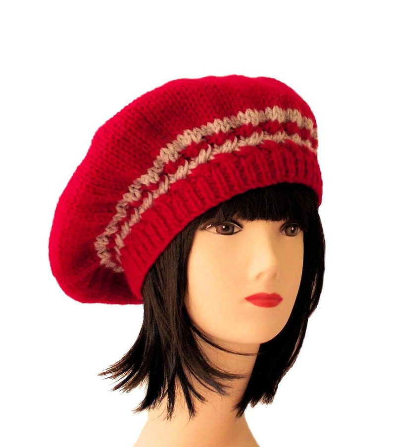 e5c703969f8 Red Beret Red Hat Womens Beret Hats for Winter Women s