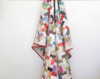 Lap Quilt -  Quilts - Scrap Quilt - Patchwork Quilt - Wheelchair Quilt - Blanket - Toddler Quilt - Picnic Quilt - Vintage - Vintage Quilt -