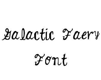 Galactic Faery Computer Font