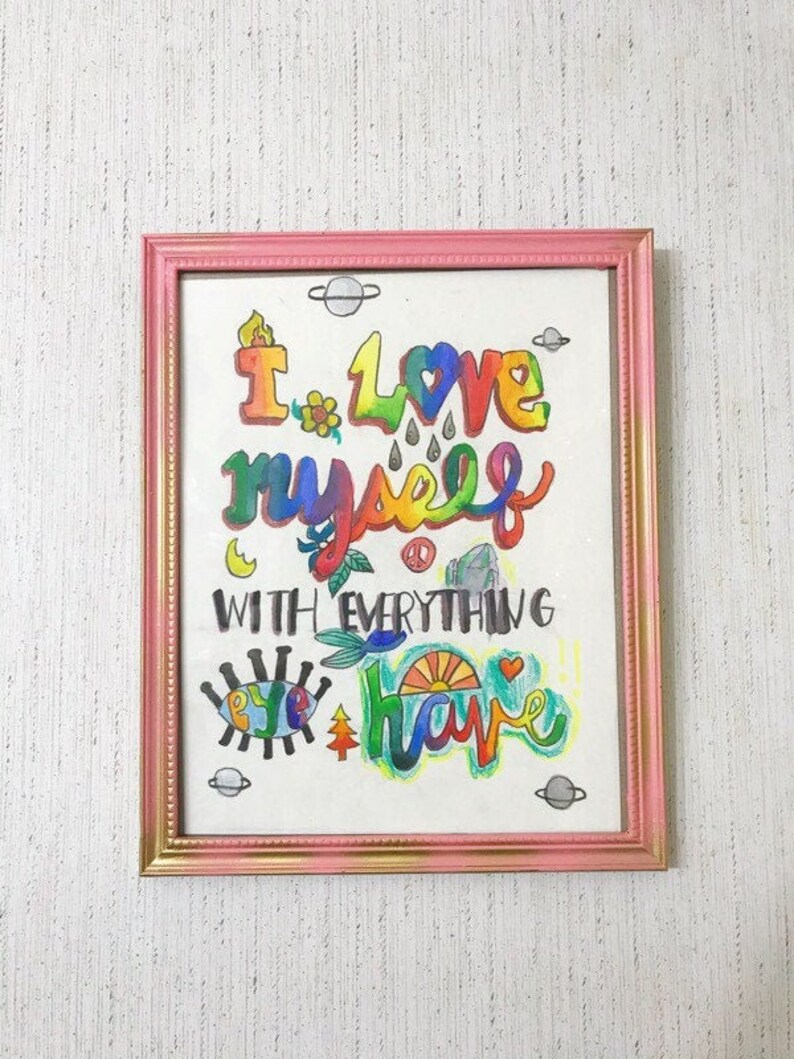 Love Yourself Framed Art image 0