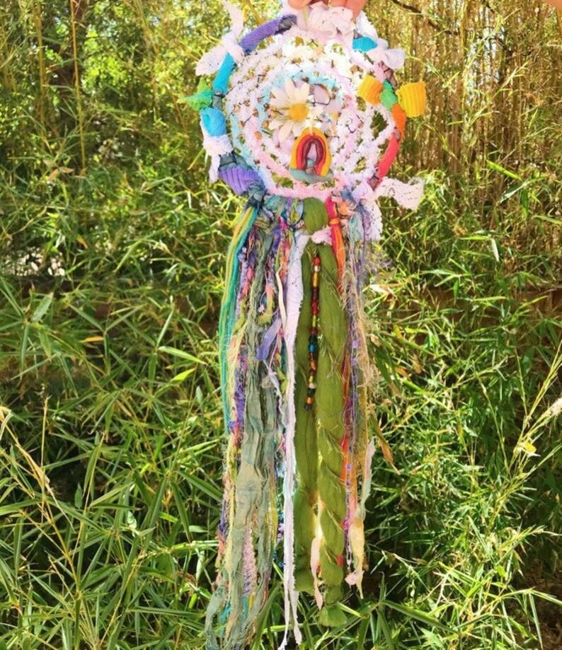 Peaceful Rainbow Dreamcatcher image 0