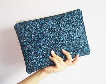 a801142696 Navy Rainbow Glitter Clutch Bag, Sparkly Navy Clutch Bag, Navy Rainbow  Clutch, Navy Glitter Evening Bag, Sparkly Navy Rainbow Bag,
