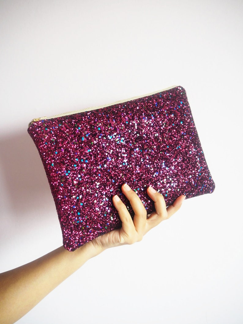 Party Berry Glitter Clutch Koppeling BagRoze TasSparkly UqzMGSpV