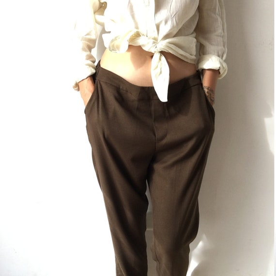 Vintage loose fitted trousers for women, 90's mili