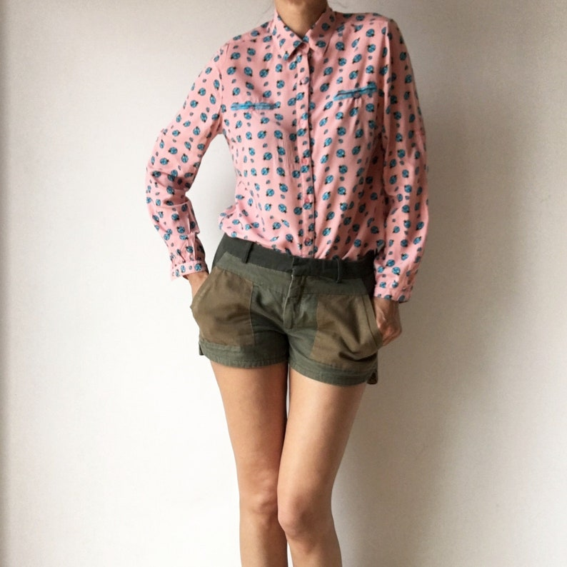 descuento recogido Precio al por mayor 2019 Vintage short, pantalón corto estillo safari mujer talla L, pantalón corto  talla M-L, shorts de color verde vintage 90s.