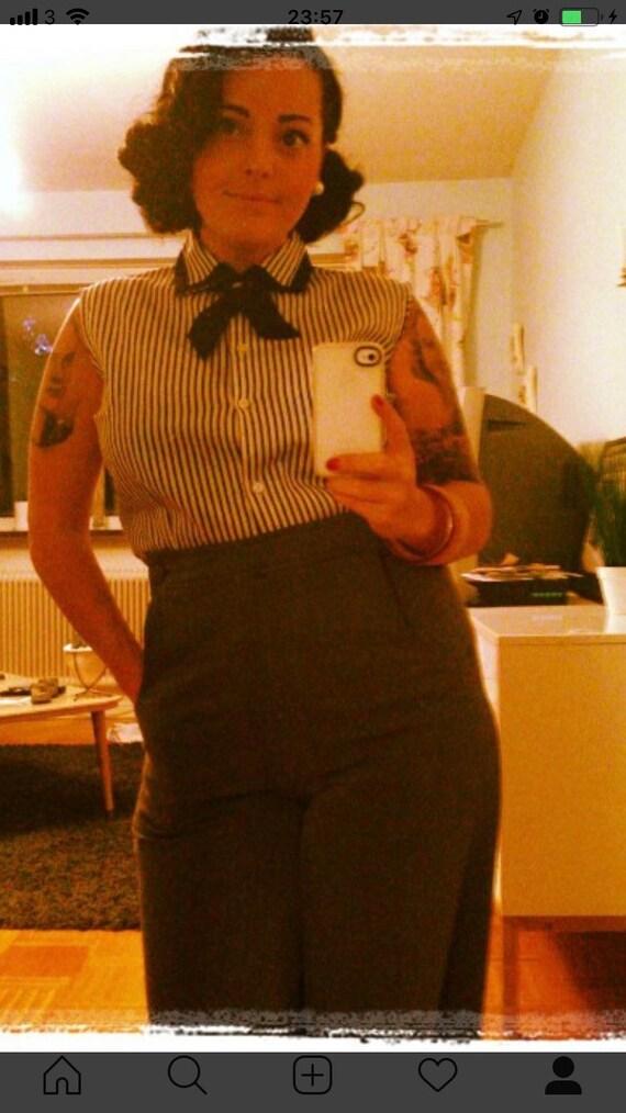 60s blouse tie