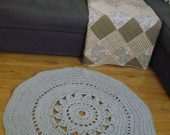 Grey crochet carpet LAST CHANCE SALE!