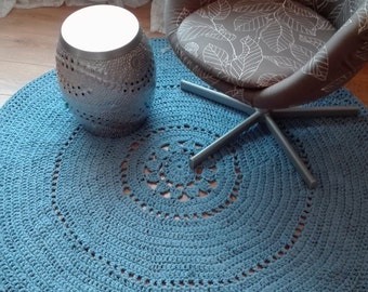 Marl blue crochet carpet LAST CHANCE SALE!